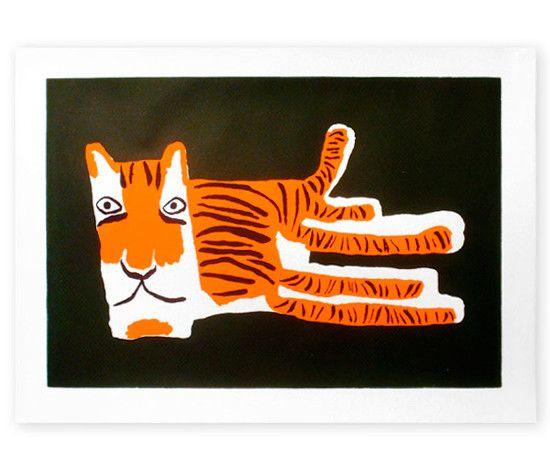 Tiger Silkscreen Print