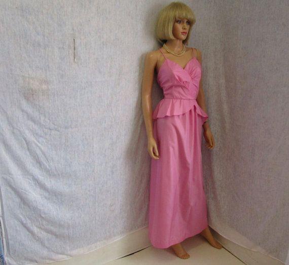 Taffeta Peplum Dress