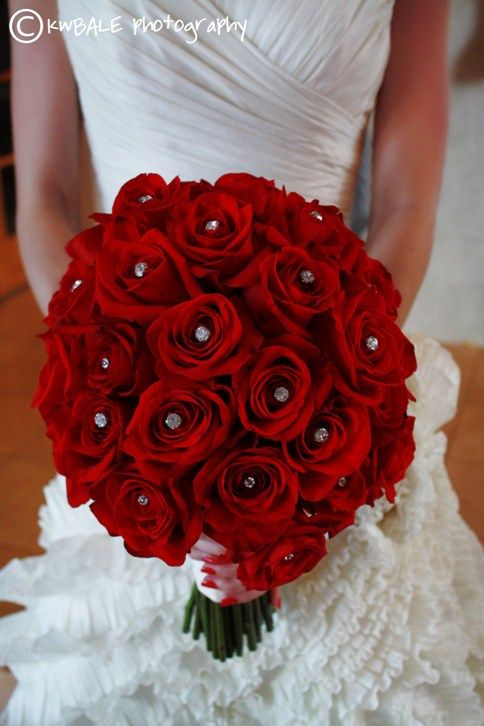 115 best Red Wedding Bouquets images on Pinterest | Bridal bouquets ...