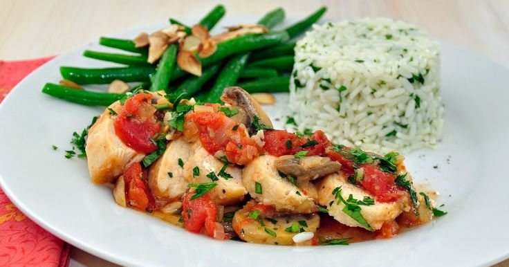 """Chicken Marengo is one of our favorite easy """"go-to"""" dishes. If you use boneless, skinless chicken breasts, it can easily be made in under an hour. My Carolina Kitchen: Chicken Marengo"""
