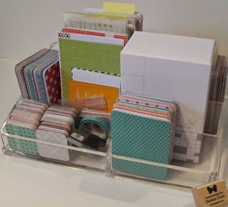 Project Life Storage | Denise Foor Studio PA   recycle what you have for Project Life Storage Stampin' Up!