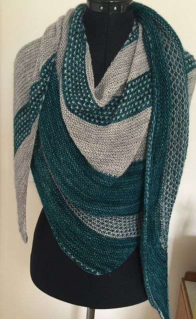 Berry Patch by Lisa Hannes ¬ malabrigo Mechita in pearl and Teal Feather