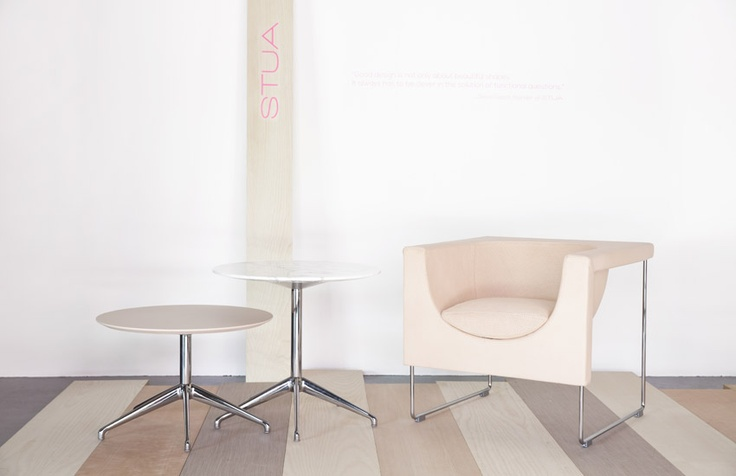 Project: DomésticoShop Barcelona Nube armchair with pastel engraved leather, Marea tables Designers: Jesús Gasca, Jon Gasca  Photo: Javier Guerrero Copyright: STUA, S.A.