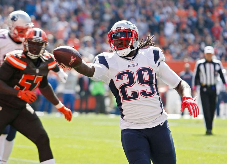 Patriots vs. Browns:     October 9, 2016   -  33-13, Patriots  -     New England Patriots running back LeGarrette Blount (29) runs for s touchdown against the Cleveland Browns in the first half of an NFL football game Sunday, Oct. 9, 2016, in Cleveland.