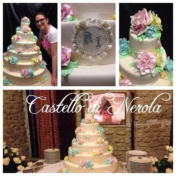 torta nuziale color pastello www.ilpappagallobar.com
