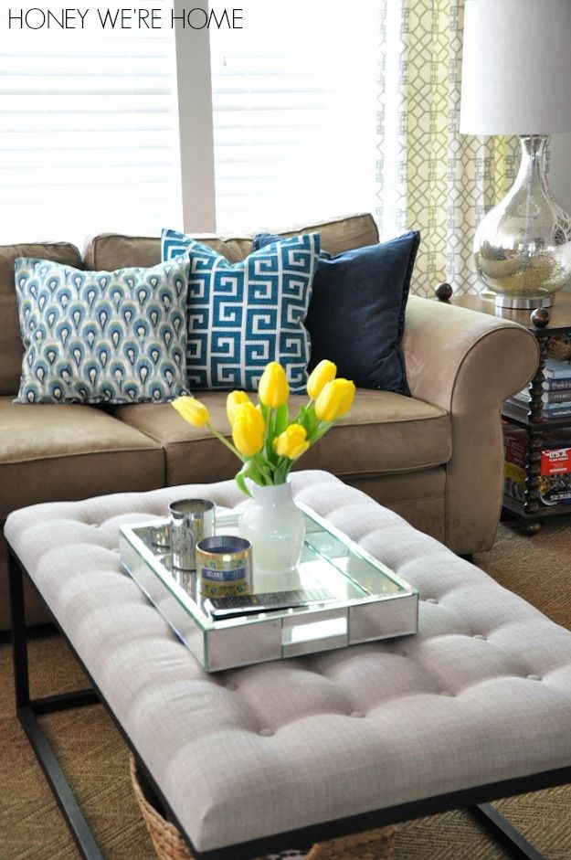 I like the Green and Blue mix. I love when home decor looks warm and  comfortable, and this is cute.