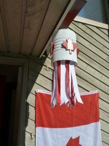 Frugalista Mamas - Canada Day Coffee Can Windsock.  Canada Day craft, hang it outside to celebrate the long weekend