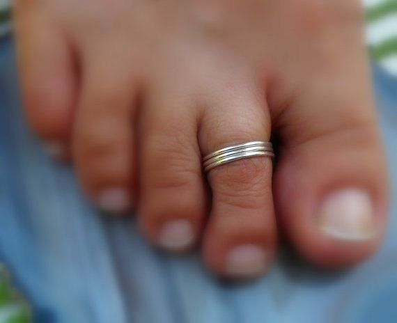 Toe Ring Knuckle Ring Pure Silver Ring Foot by JewelryByKonstantis
