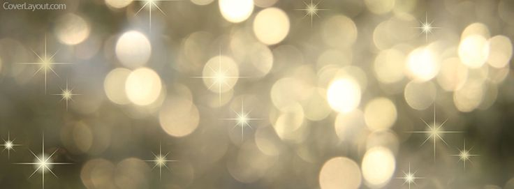 Gold Holiday Lights Facebook Cover CoverLayout.com