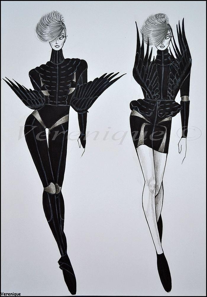 Black bird collection by Verenique.deviantart.com on @deviantART