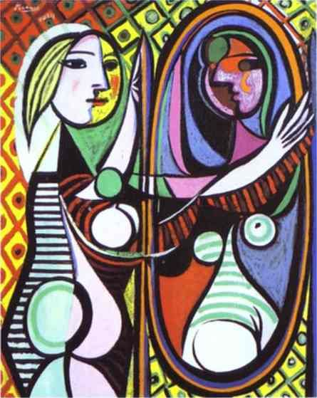 Pablo Picasso. Girl Before a Mirror. 1932: Picasso Paintings, Picasso Girls, Modern Art, Oil On Canvas, Woman Portraits, Art History, Art Dolls, Pablo Picasso, Art Art