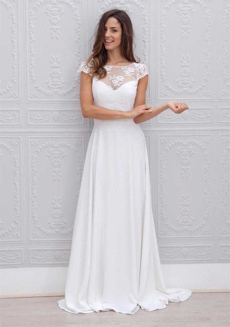 Custom Made Gorgeous Bridal Formal Ladies Dresses Vestido De Festa Longo Long Decoration Nice Appliques 2015 Beach Wedding Dress
