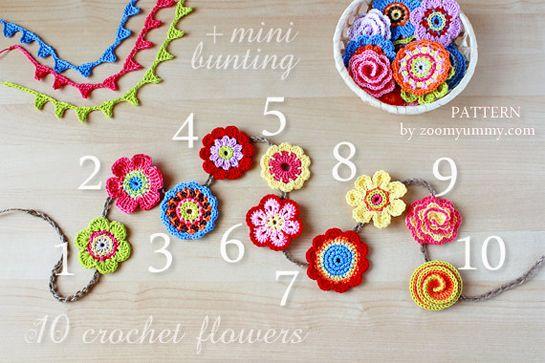 New Pattern – Big Crochet Flower Party ༺✿ƬⱤღ https://www.pinterest.com/teretegui/✿༻