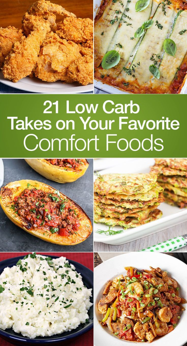21 Low Carb Recipes of Your Favorite Comfort Foods including Fried Chicken, Paleo Egg McMuffin, Mac and Cheese, Blueberry Cheesecake Pie, Fat Head Pizza, Jambalaya, Brownies, Lasagna, Grilled Cheese, Chili, Doritos,and more!