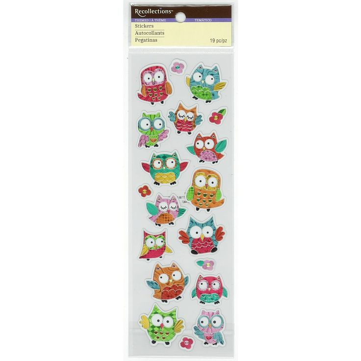 Purchase the Owl Hologram Stickers by Recollections™ at Michaels.com. Decorate your scrapbook pages using these quirky Hologram Stickers by Recollections™.
