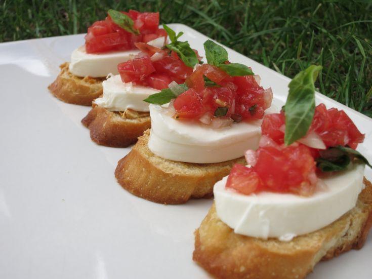 Fotorecept: Bruschetta mozzarela