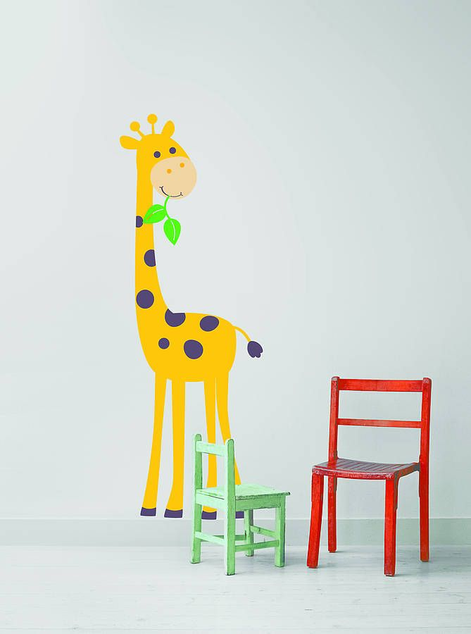 Giraffe Wall Stickers from notonthehighstreet.com