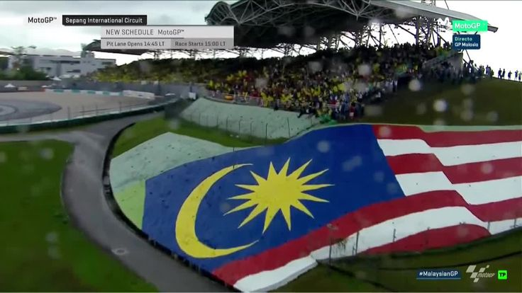 Malaysian GP Race - Sighting Lap, Rain Fall Harder