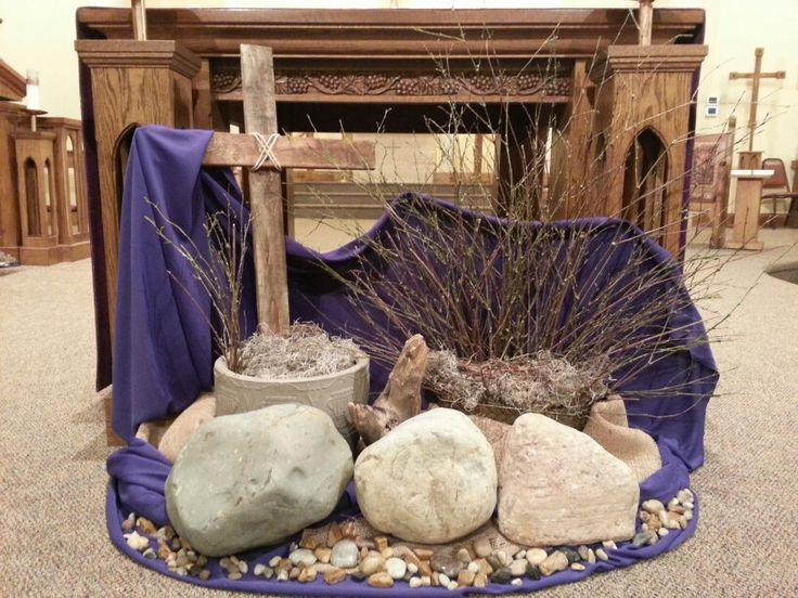 Lenten Altar Catholic Church