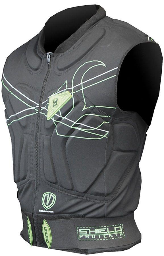 Demon Shield Vest Snowboard/Ski Body Armour L Black/Green
