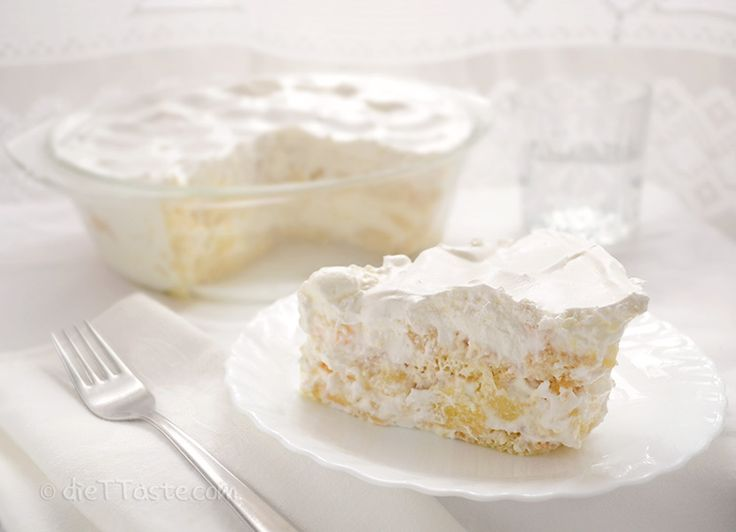 Fruit Tiramisu cake  (14 oz) canned* pineapples 400 ml (14 oz; 1 3/4 cup) firm yogurt 400 ml (14 oz; 1 3/4 cup) whipping cream 2 tsp gelatin powder (...