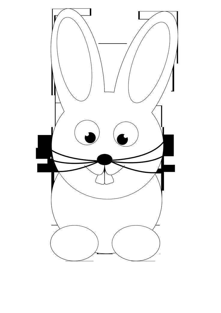De onderwijsstudio - sjabloon konijn