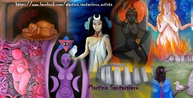 Martina Santarsiero pagan artist - Martina Santarsiero artista pagana pagan paintings goddess artwork