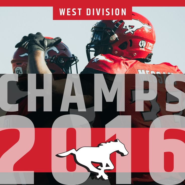 The @calstampeders.   The Champions of the West.  #GreyCup #GCPlayoffs #CFL