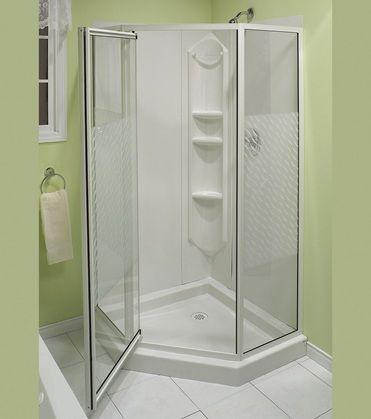 "One Piece Corner Shower Stalls | 38"" Himalaya Corner shower - Advanta by MAAX"