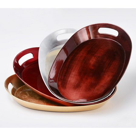 Oval Serving Tray with Handles | Kirklands