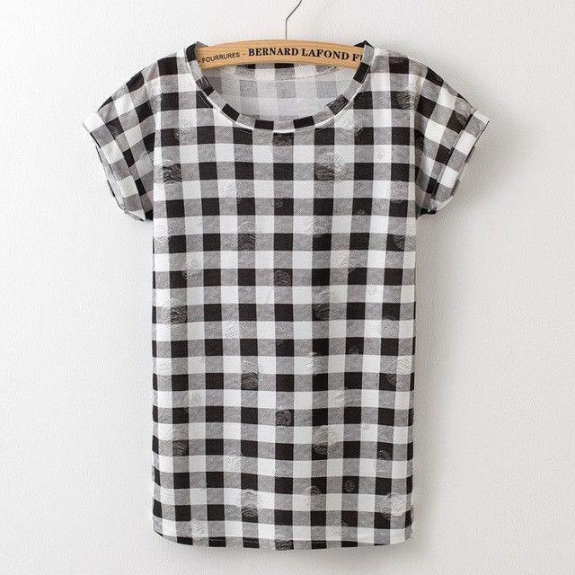 2016 Summer Fashion Tassel Design Hole T-shirt Print Frayed Hole T Shirts Female Short Sleeve Sexy Thin Ladies Tops