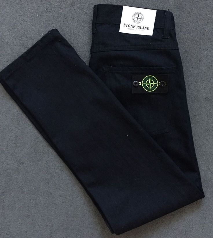 Stone Island Black denim 5pocket jeans Slim fit Detachable Stone Island badge on back pocket Straight leg Never worn Size 32 Measurements on pictures in centimetres If you have any questions, feel free to ask | eBay!