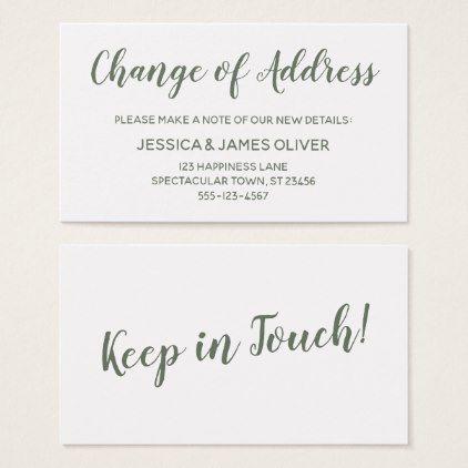 Oltre 25 idee originali per Change of address cards su Pinterest - free change of address