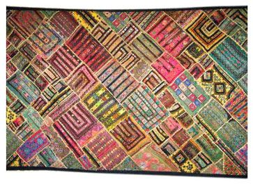 90s Indian Kuch Wall Tapestry Patchwork Throw Home Decor asian-tapestries