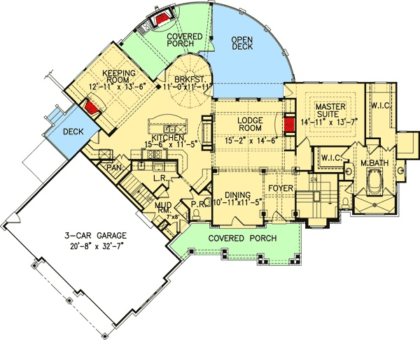 Plan 15626ge stunning rustic craftsman home plan house for House plans utah craftsman