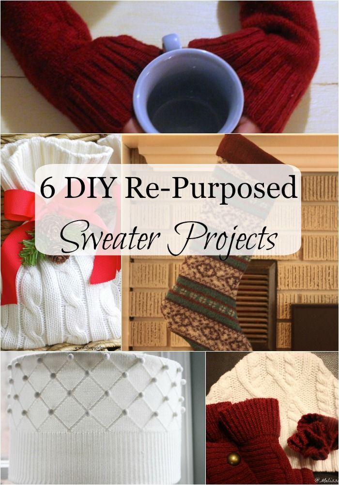 These are 6 repurposed frugal sweater projects you have to make! Perfect for everyone on your list... and a few for yourself. Turn old sweaters into new fun