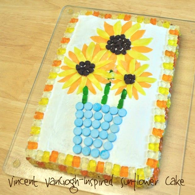 van gogh sunflowers cake | Flower Power (PART 2): Six MORE Flower-Themed Crafts, Projects, and ...