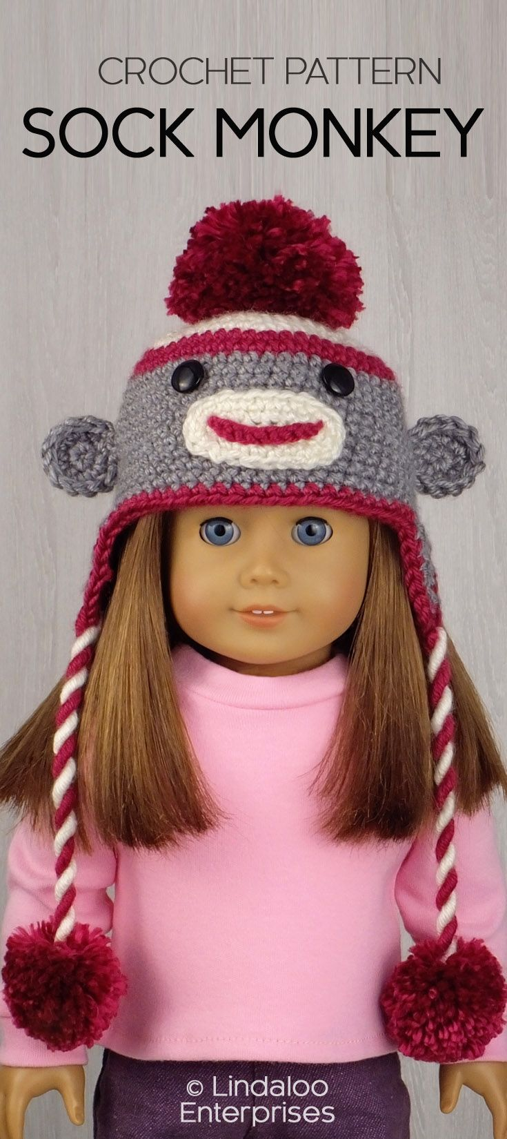 Knitting Patterns For Sock Monkey Clothes : 367 best images about american girl knit patterns on Pinterest Knit pattern...