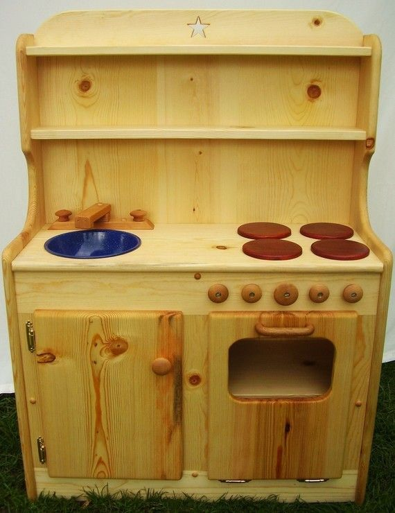 Wooden Play Kitchen set by Heartwood by heartwoodnaturaltoys, $460.00