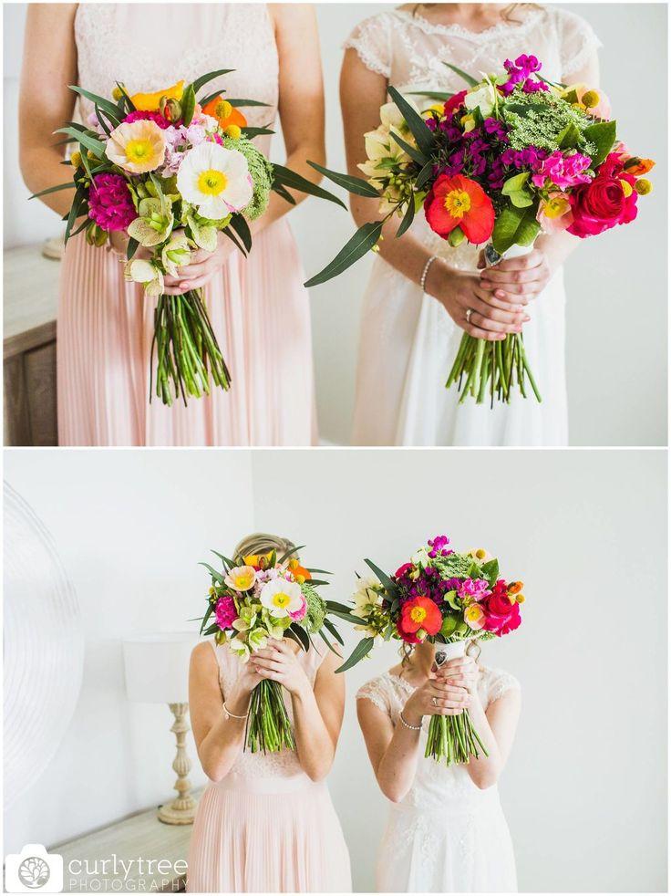 St Josephs Catholic Church Wedding - Alana + Dan - Spring wedding bouquet #springweddingflowers