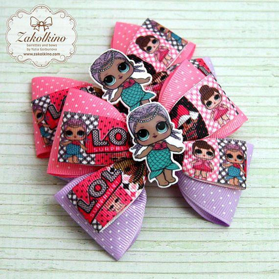 Lol Puppe Haarschleife Lol Überraschung Geburtstagskind Outfit Merbaby  – Zakolkino hair bow