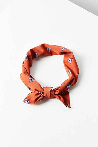 Pattern Neck Tie Scarf - Urban Outfitters