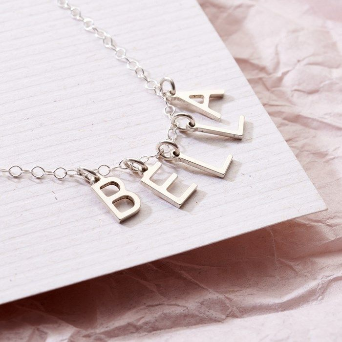 Personalised Posh Totty Designs Letter Name Necklace | GettingPersonal.co.uk