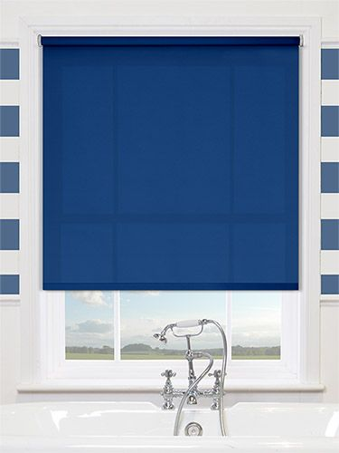 Searching for the perfect blind to compliment your Mediterranean decor? Stop right here and take a look at this striking Valencia Simplicity Cobalt Blue roller blind!
