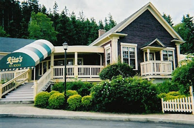#38 - Rita McNeill's Tea Room, Big Pond, Cape Breton Island. This tea room is now a pilgrimage for many of Rita's fans! She was a poet!