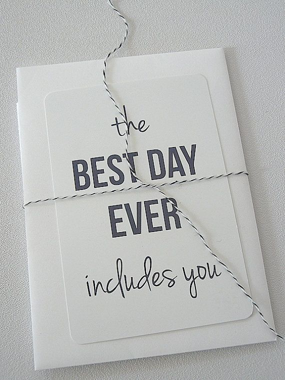 best day ever note card mini print bridesmaid by janetmorrin