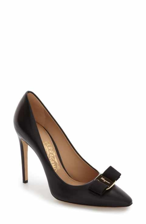 Salvatore Ferragamo Emy Pointed Toe Bow Pump (Women) · Designer Shoes  HeelsShoes ...
