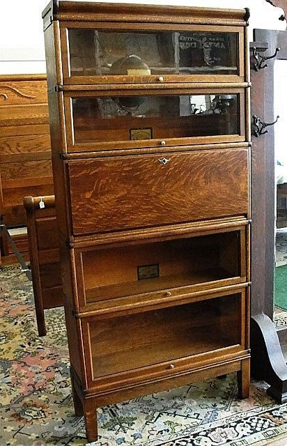 Globe Wernicke Oak Stacking Barrister Bookcase with Desk - 897 Best Office Furniture Images On Pinterest Antique Furniture
