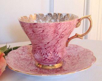 Rosa platillo y taza de té de Royal Albert Bone China