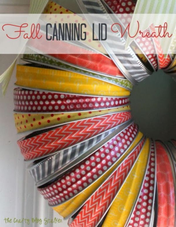 Make A Wreath From Your Old Canning Lids